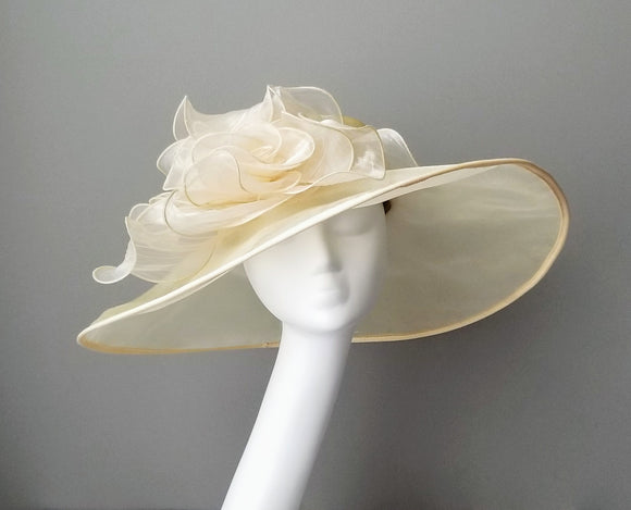 Ivory ladies Kentucky derby hats Hat Haven Louisville hat shop custom hat maker