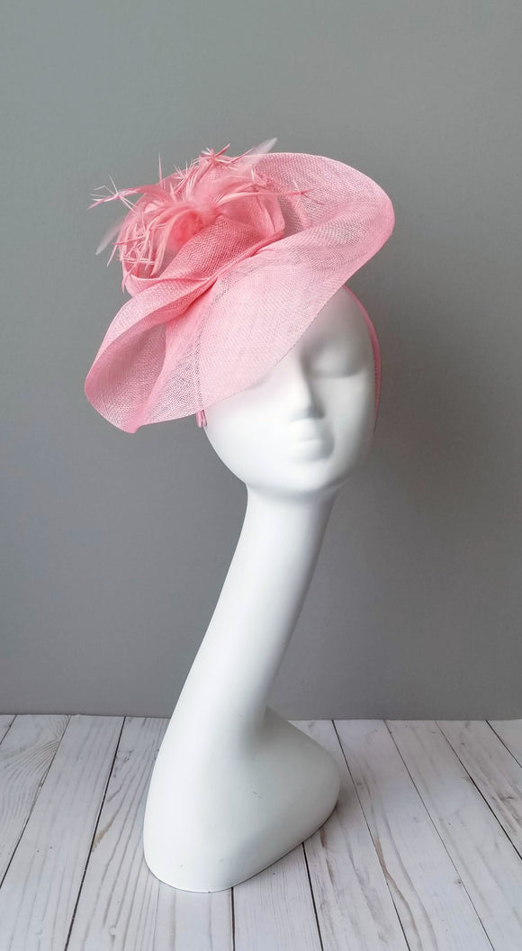 Pink fascinator Kentucky derby hats Louisville Hat shop Hat Haven custom hat