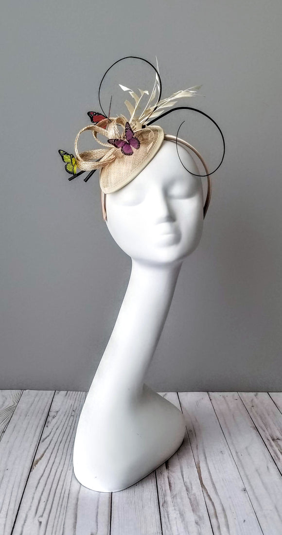 Butterfly fascinator hat shop Louisville Kentucky Hat Haven