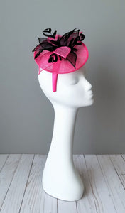 Kentucky Derby fascinators Louisville Hat Haven pink fascinator