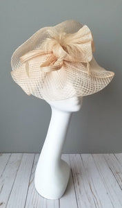 Neutral fascinator hat shop Louisville Hat Haven millinery