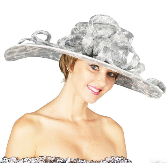 Silver Kentucky derby hats Louisville Hat Haven