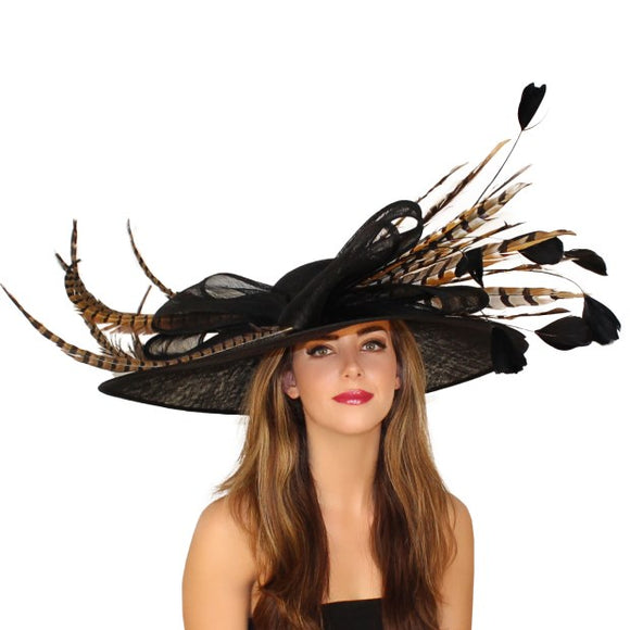 Black Kentucky Derby hat Hat Haven Hat Shop Louisville Kentucky
