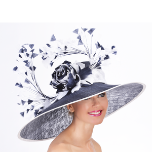 Kentucky Derby hats Louisville Hat Haven Navy Kentucky Derby hats