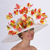 Multi colored sinamay Kentucky derby hat Louisville Hat maker Hat Haven