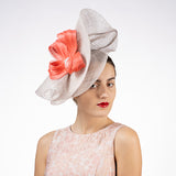 Beige sinamay fascinator hat shop Louisville Kentucky Hat Haven hat makers
