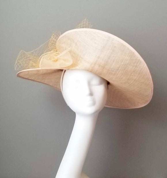 Neutral fascinator hat shop Louisville Hat Haven