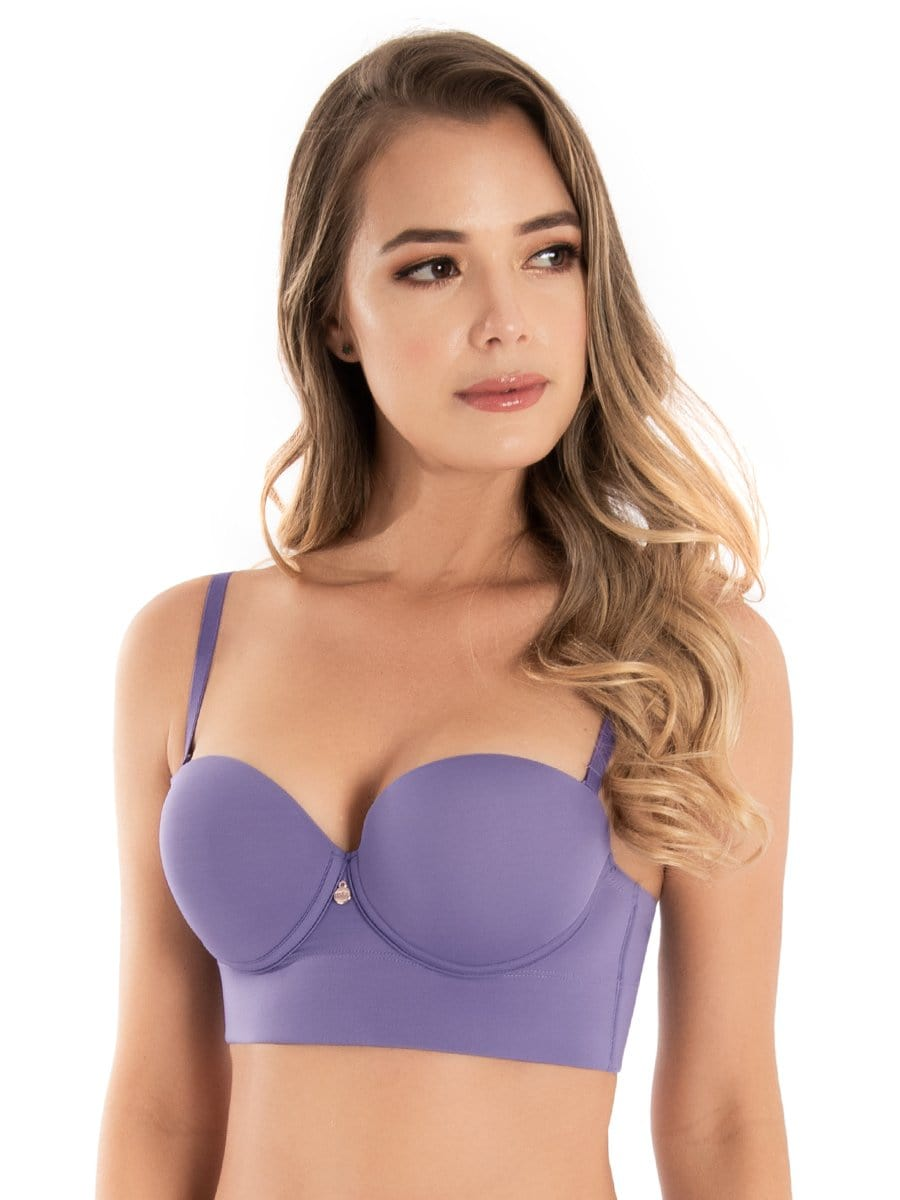 Brasier Strapless Espalda Ancha Amatista