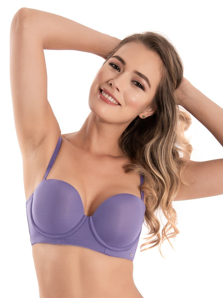Brasier Strapless Doble Realce Amatista