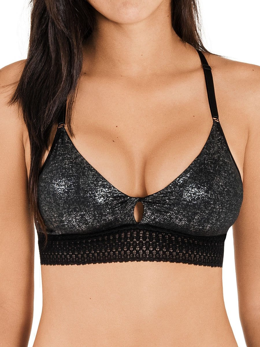 Bralette Triangular Negro