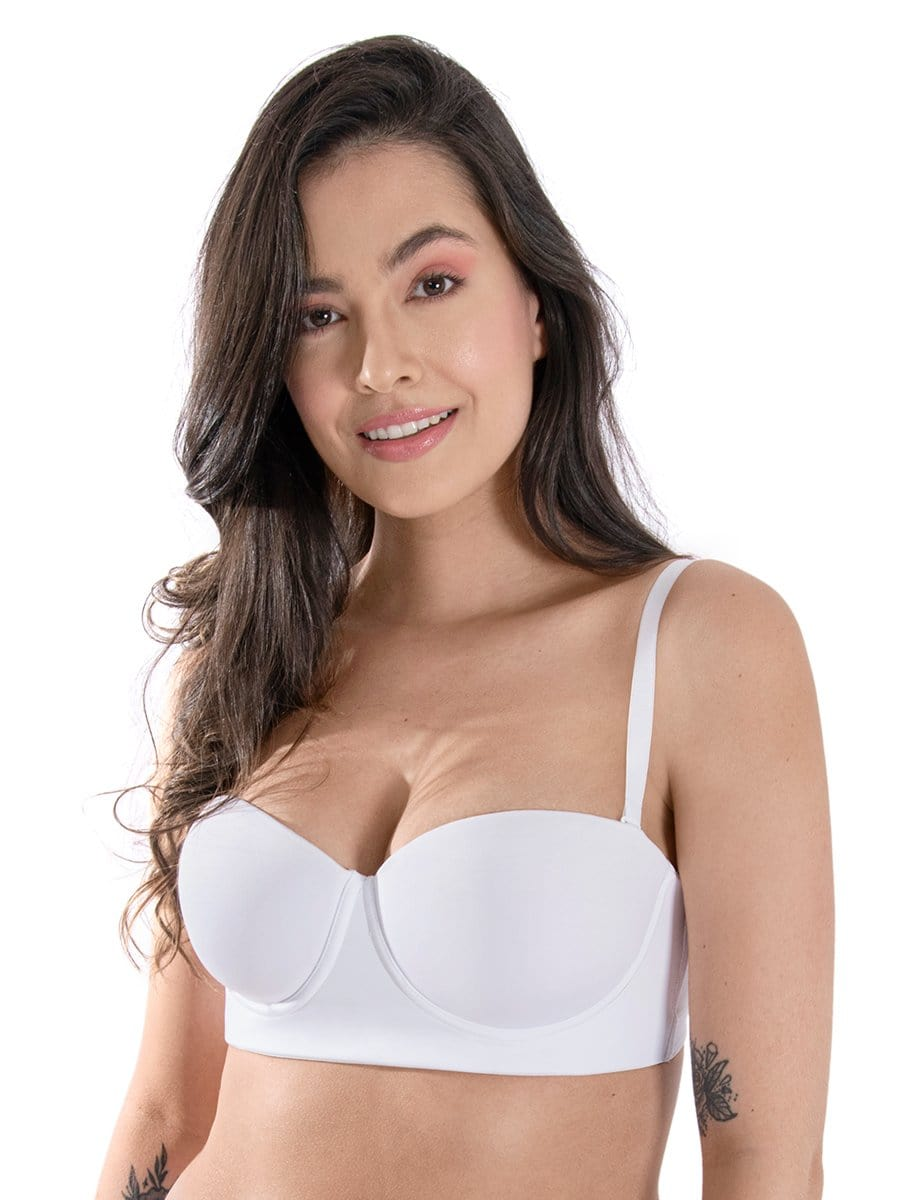 Brasier Strapless Blanco