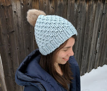 Wild Raspberry Toque - Super Bulky Knitting Pattern