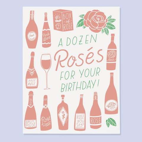 Dozen Rosés Card by the Good Twin