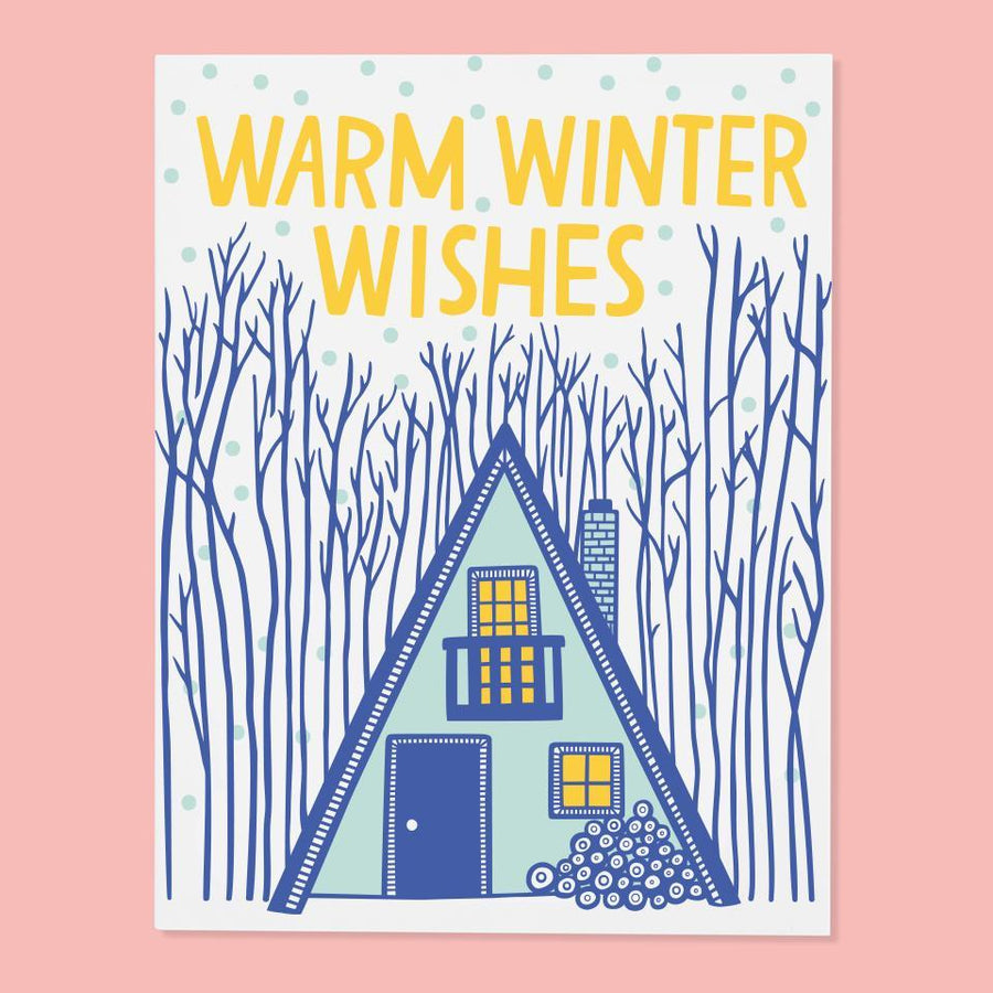 Cabin Winter Card from The Good Twin
