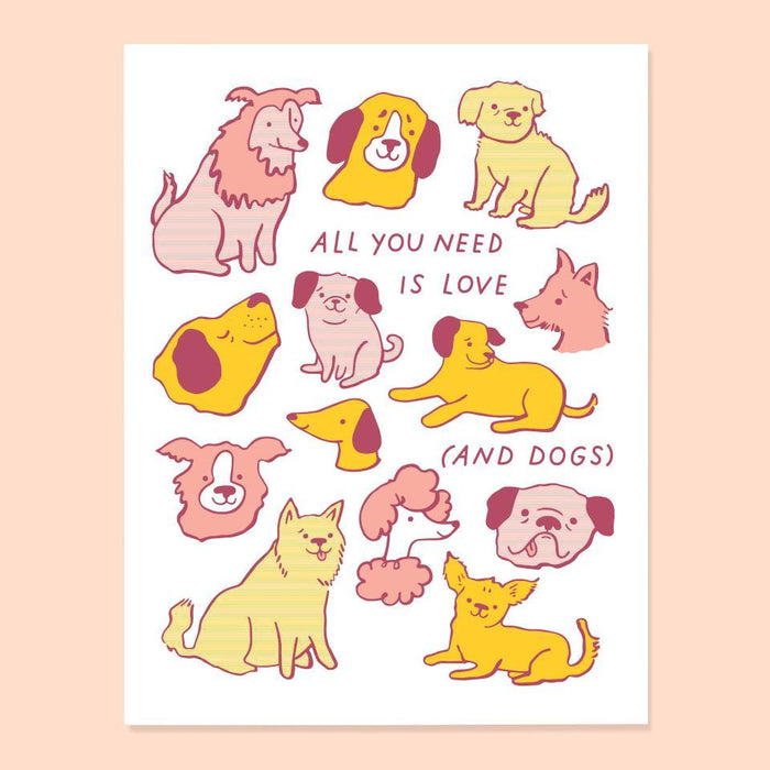 All You Need is Love and Dogs Card from The Good Twin