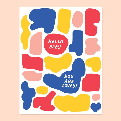 Hello Baby Card by The Good Twin