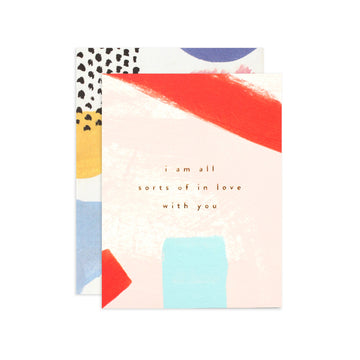In Love With You Greeting Card by Moglea