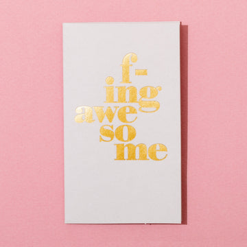 F-ing Awesome Mini Card by Farewell Paperie