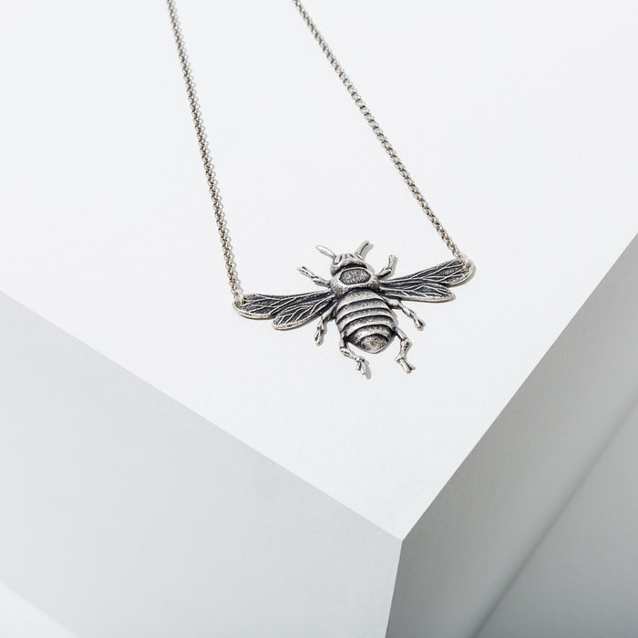 Bee Necklace in Silver