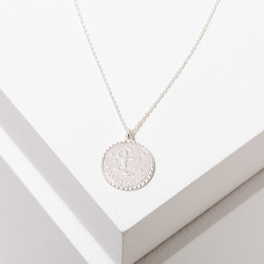 Zodiac Pendant Necklace in Sterling Silver