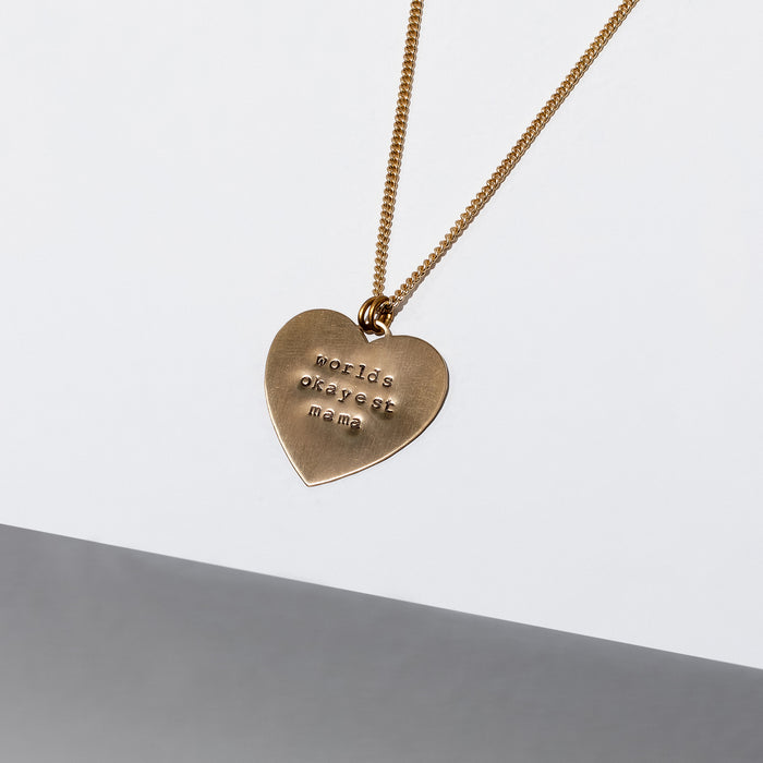Worlds Okayest Mama Necklace