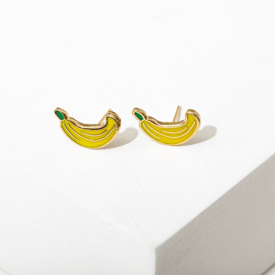 Banana Post Earrings
