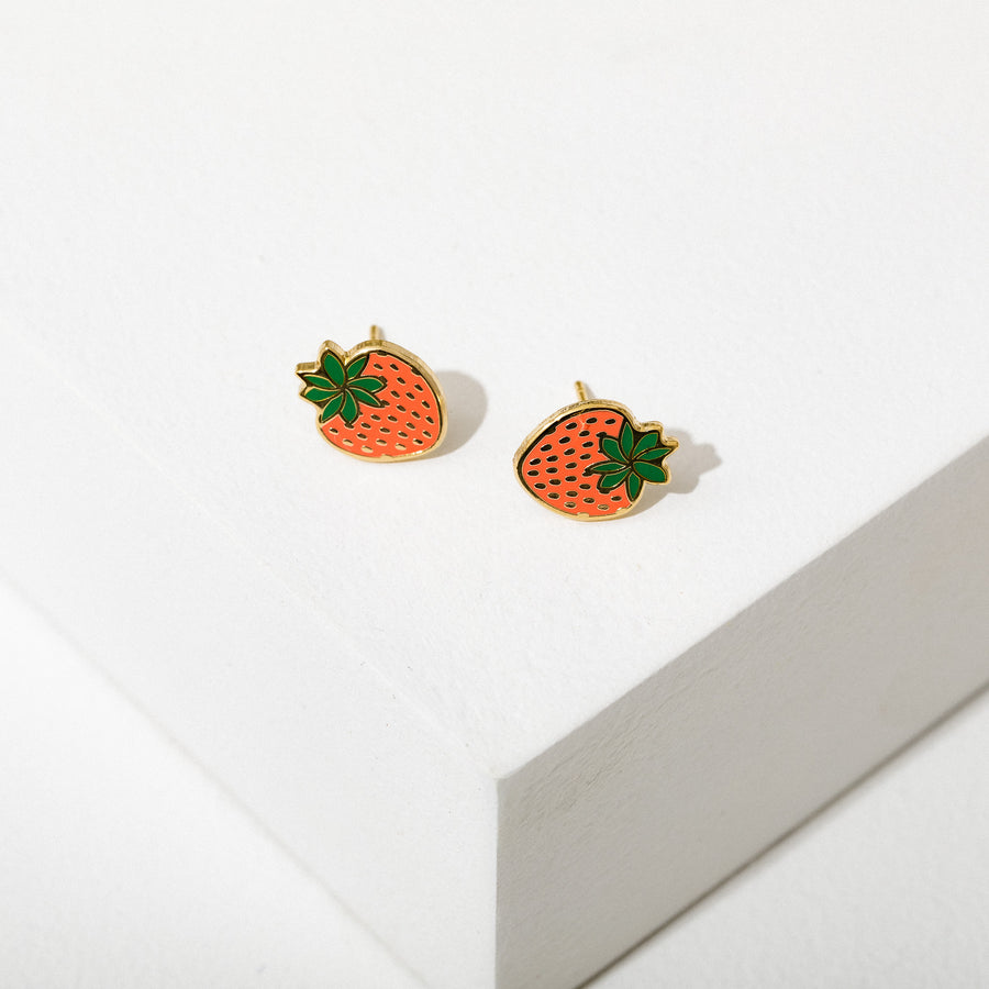 Strawberry Post Earrings