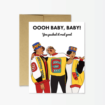 Salt N Pepa Push It Card by Party Mountain Paper