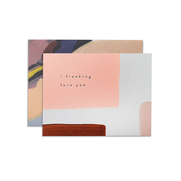 Freaking Love You Greeting Card by Moglea