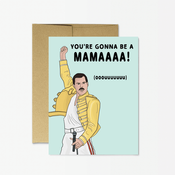 Freddie Mercury New Mama Card by Party Mountain Paper