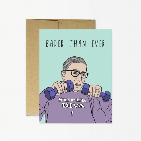 "RBG ""Bader Than Ever"" Card by Party Mountain Paper"