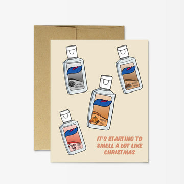 Christmas Sanitize Card by Party Mountain Paper