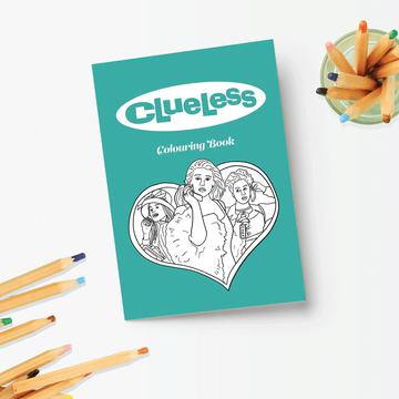 Clueless Coloring Book by Party Mountain Paper