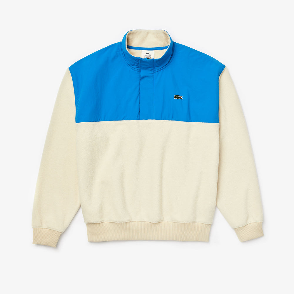 Lacoste Neck Polar Fleece Nylon Sweatshirt