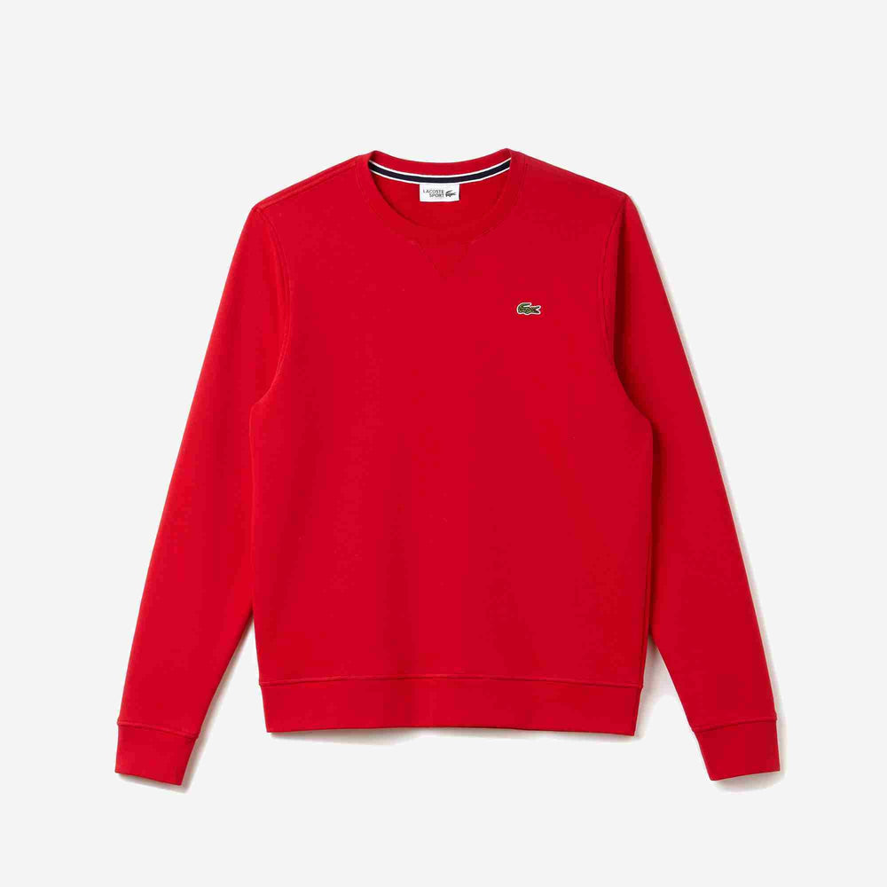 Lacoste Crewneck Sweatshirt in Solid Fleece
