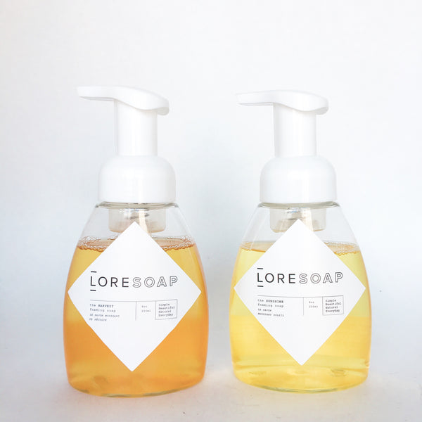 TWO foaming soaps