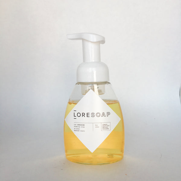 the SUNSHINE foaming soap