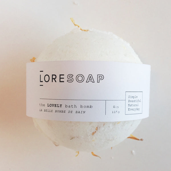 bath bomb, lore soap