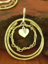 Brass & 925 Heart Necklace