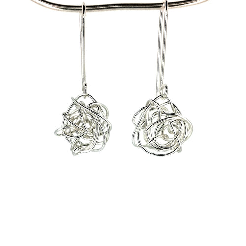 SSHME006 Knots of Silver Earrings
