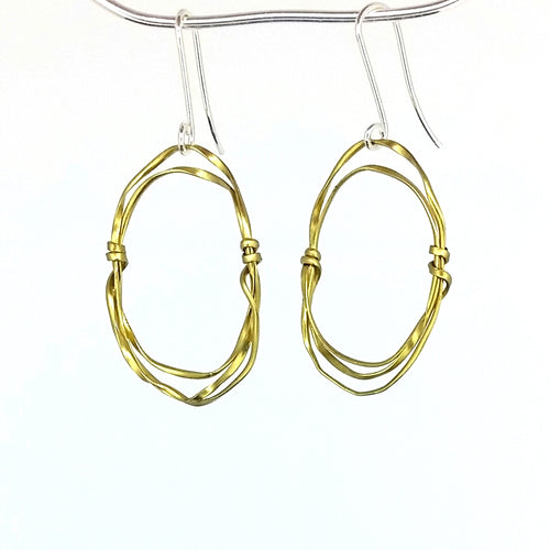 BE1s Brass Earrings Small