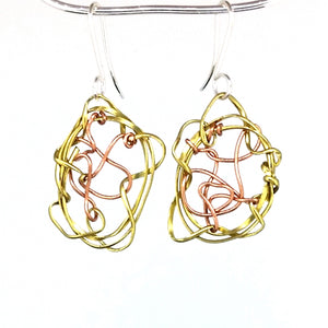 BCE2 Mixed Metal Earrings