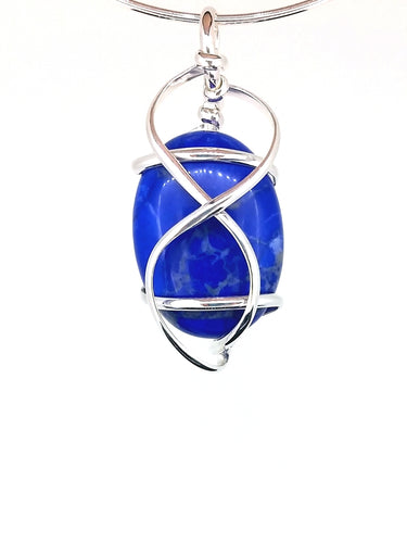 G07Z02 Sterling Silver Pendant with 5 Interchangeable Gemstones