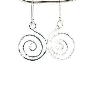 SSHME001 Small Spiral Earrings