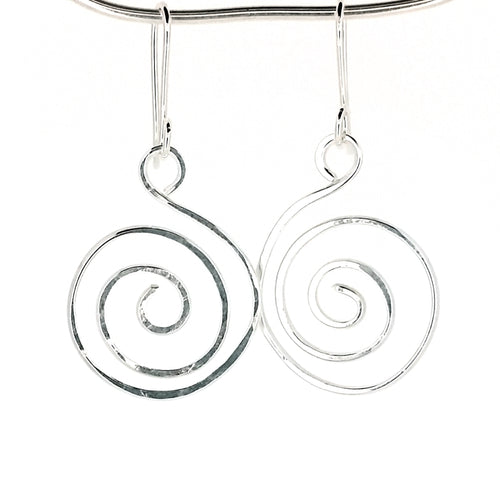 SSHME008 Large Spiral Earrings