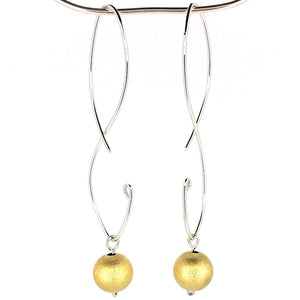 SSHME010 SS & Vermeil Earrings long