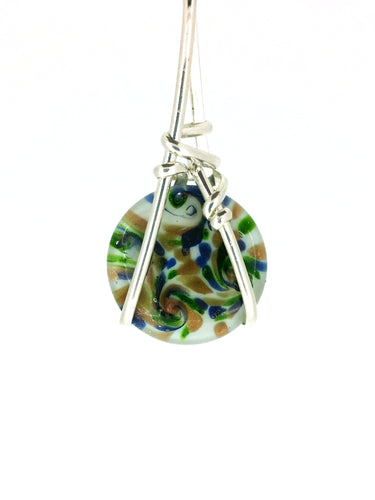 R05A01 Sterling Silver Pendant with 8 Interchangeable Glass Stones