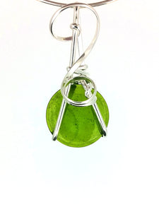 R07A01 Sterling Silver Pendant with 8 Interchangeable Glass Stones