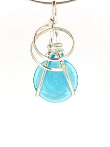 R07A02 Sterling Silver Pendant with 8 Interchangeable Glass Stones