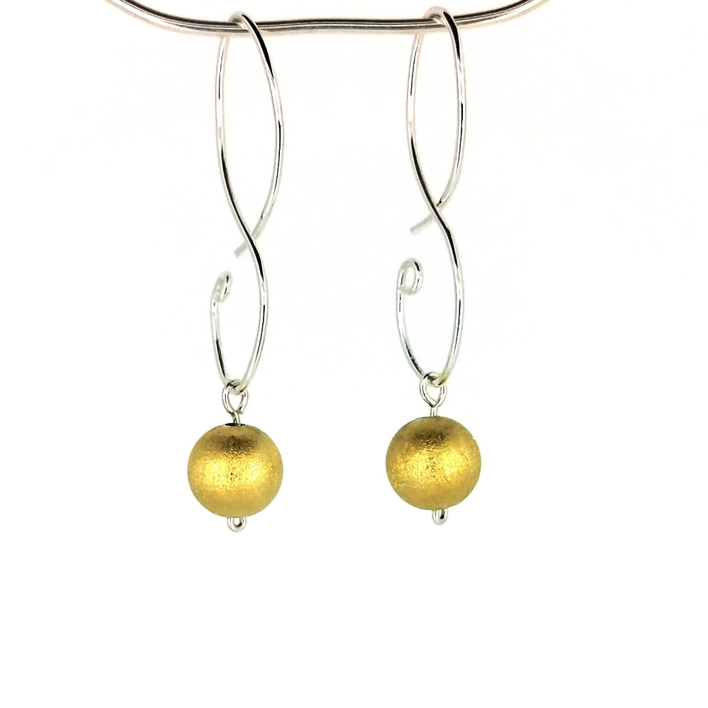 SSHME009 SS & Vermeil Earrings short